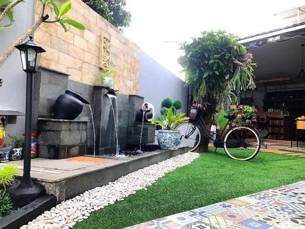 cara menghias taman depan rumah