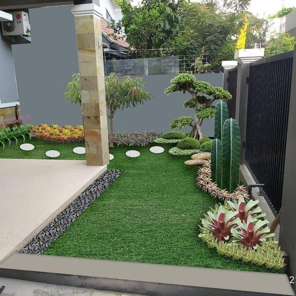 dekorasi taman samping rumah
