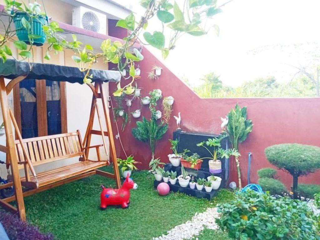 desain taman depan rumah lahan sempit